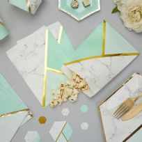 Mint Marble Sweet Bags (25)